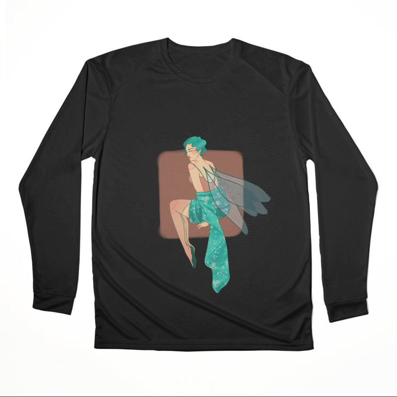 Pin-up Pixie Women's Performance Unisex Longsleeve T-Shirt by Kobrah's Artist Shop