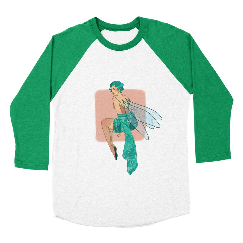 Pin-up Pixie Women's Baseball Triblend Longsleeve T-Shirt by Kobrah's Artist Shop