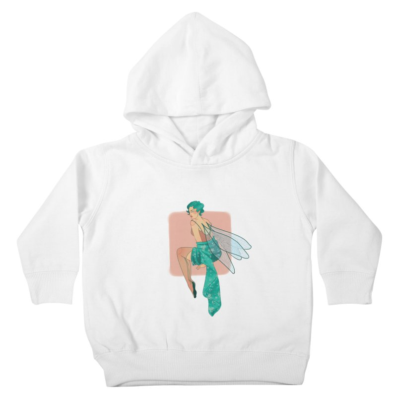 Pin-up Pixie Kids Toddler Pullover Hoody by Kobrah's Artist Shop