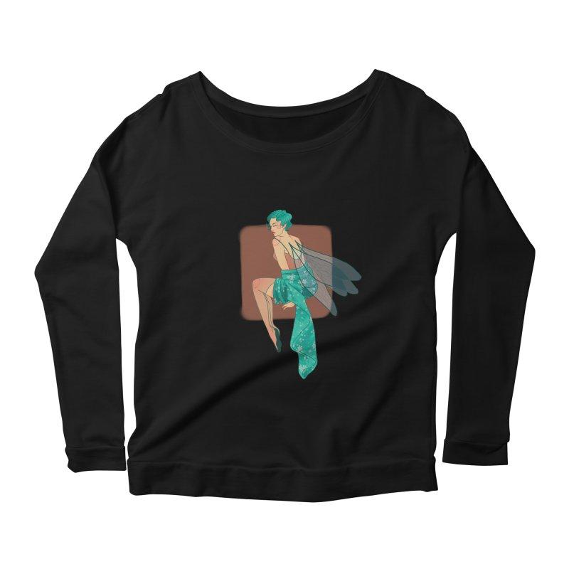 Pin-up Pixie Women's Scoop Neck Longsleeve T-Shirt by Kobrah's Artist Shop