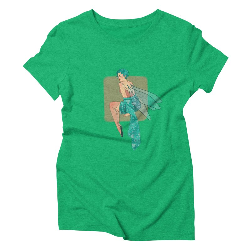 Pin-up Pixie Women's Triblend T-Shirt by Kobrah's Artist Shop