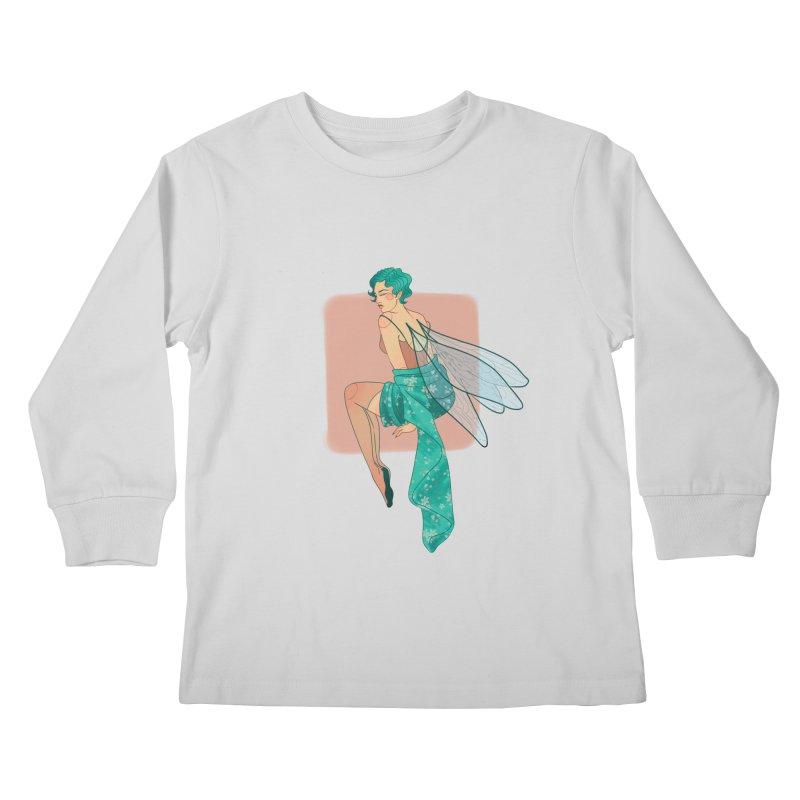 Pin-up Pixie Kids Longsleeve T-Shirt by Kobrah's Artist Shop