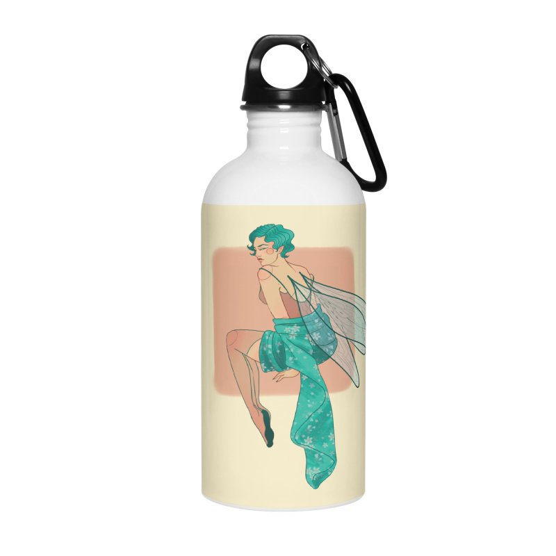 Pin-up Pixie Accessories Water Bottle by Kobrah's Artist Shop