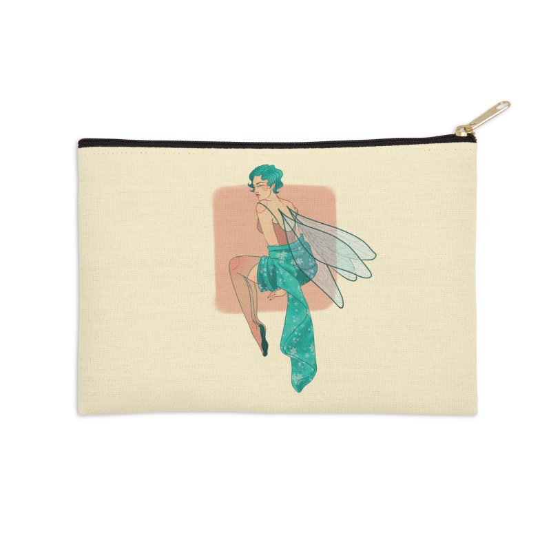 Pin-up Pixie Accessories Zip Pouch by Kobrah's Artist Shop