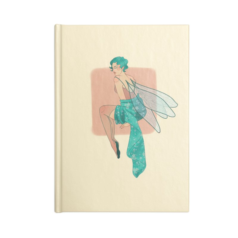 Pin-up Pixie Accessories Lined Journal Notebook by Kobrah's Artist Shop