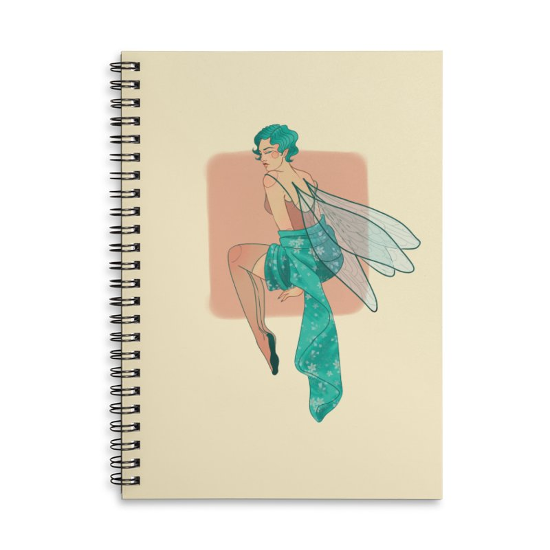 Pin-up Pixie Accessories Lined Spiral Notebook by Kobrah's Artist Shop