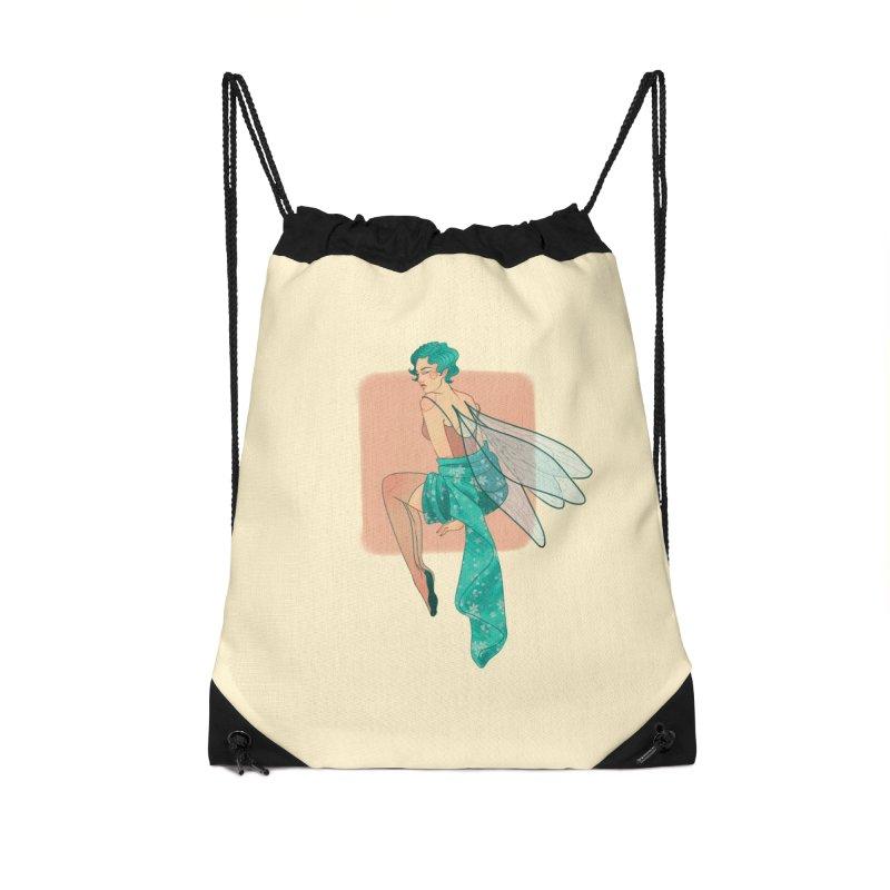 Pin-up Pixie Accessories Drawstring Bag Bag by Kobrah's Artist Shop