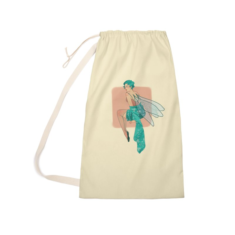 Pin-up Pixie Accessories Laundry Bag Bag by Kobrah's Artist Shop