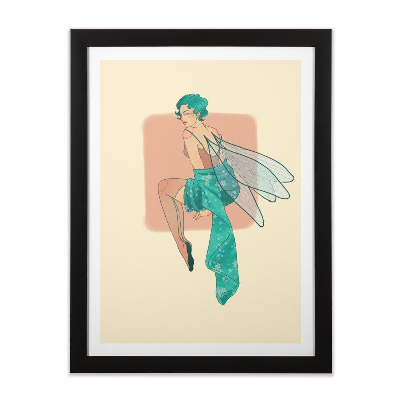Pin-up Pixie Home Framed Fine Art Print by Kobrah's Artist Shop