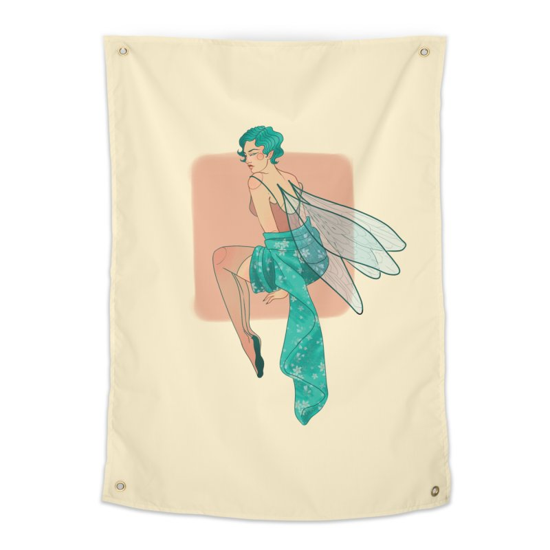 Pin-up Pixie Home Tapestry by Kobrah's Artist Shop
