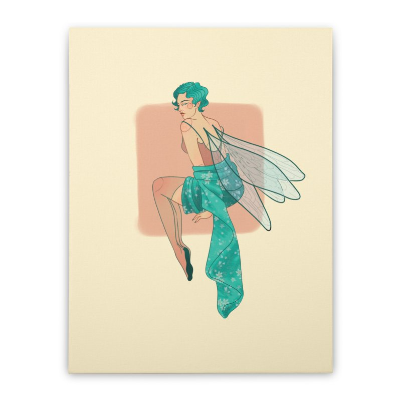 Pin-up Pixie Home Stretched Canvas by Kobrah's Artist Shop