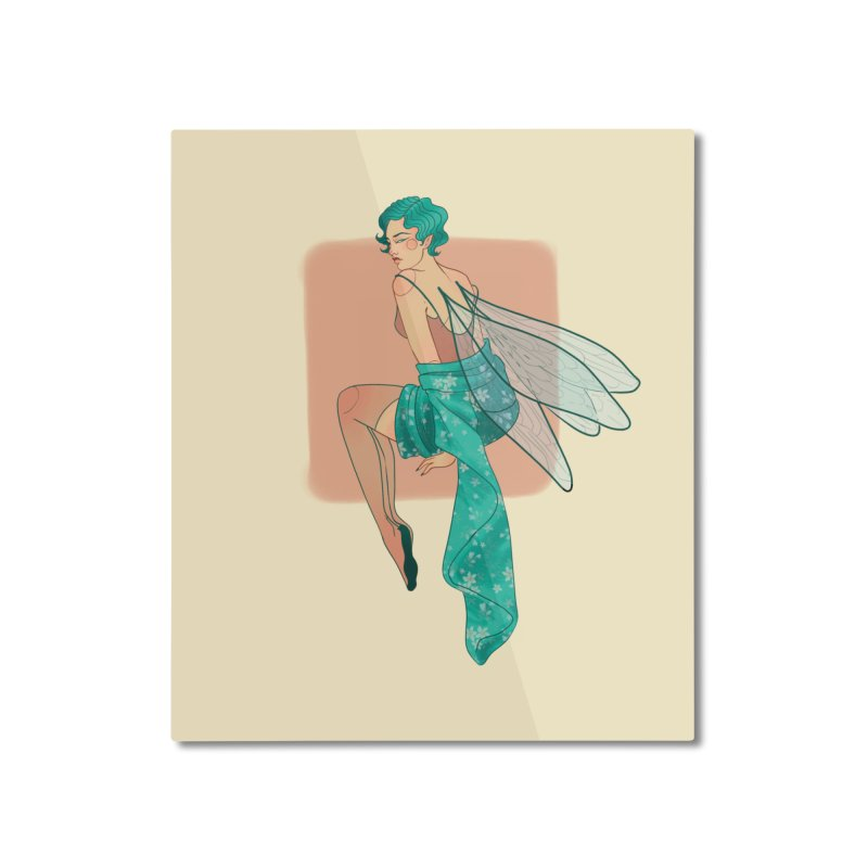 Pin-up Pixie Home Mounted Aluminum Print by Kobrah's Artist Shop