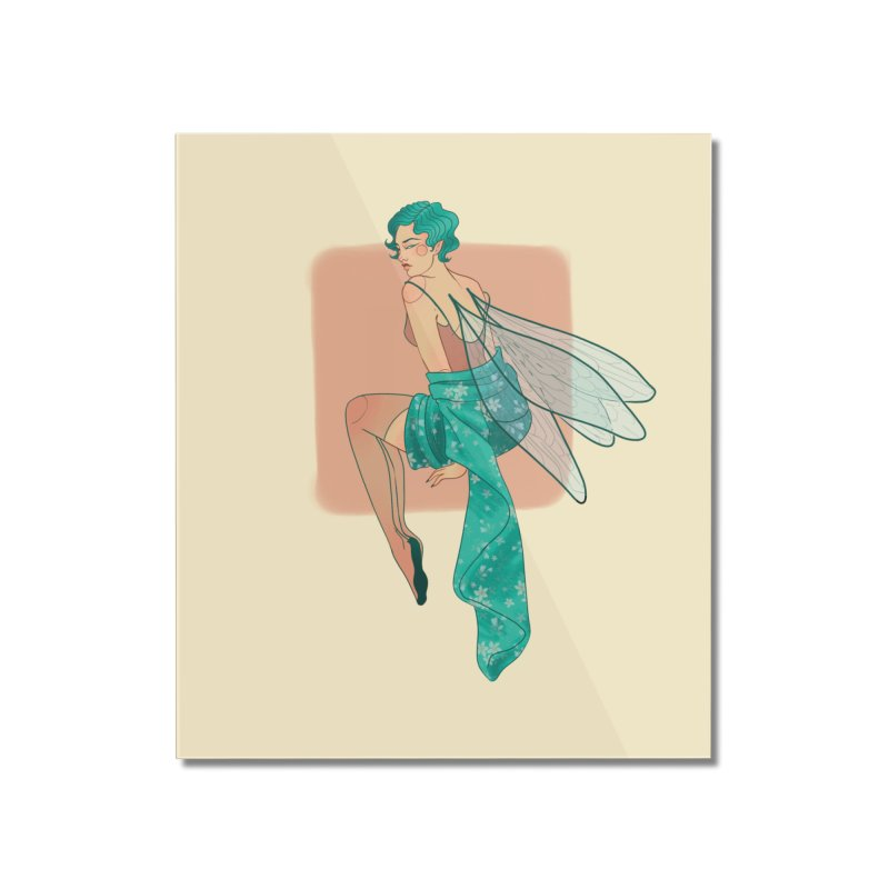 Pin-up Pixie Home Mounted Acrylic Print by Kobrah's Artist Shop