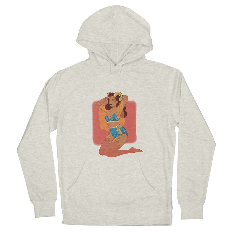 Centaur Pin-up Women's French Terry Pullover Hoody by Kobrah's Artist Shop