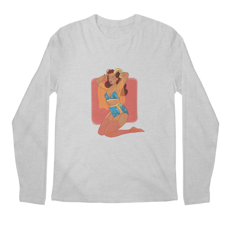 Centaur Pin-up Men's Regular Longsleeve T-Shirt by Kobrah's Artist Shop
