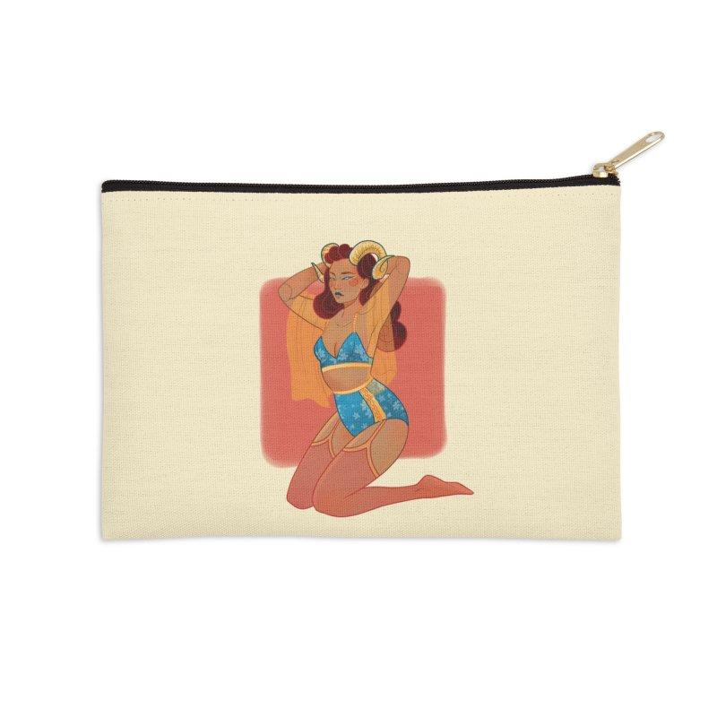 Centaur Pin-up Accessories Zip Pouch by Kobrah's Artist Shop