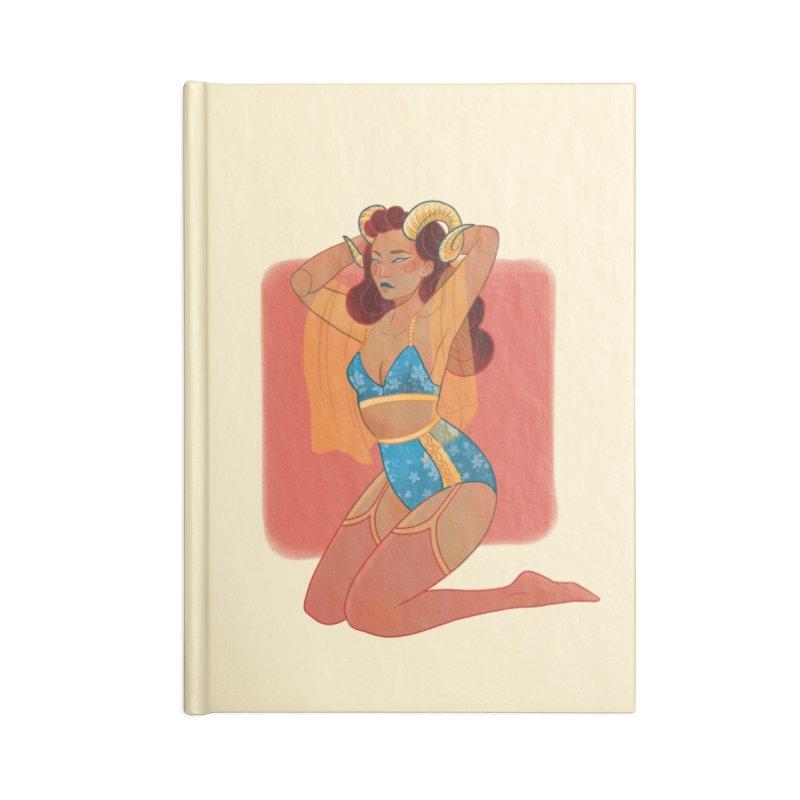 Centaur Pin-up Accessories Lined Journal Notebook by Kobrah's Artist Shop