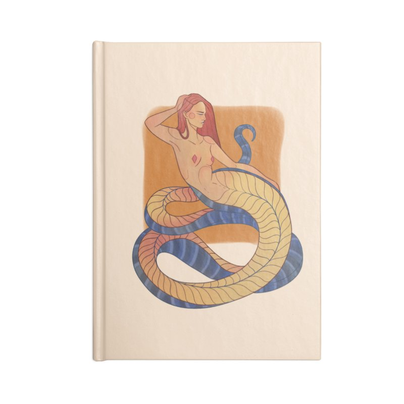 Mythical Pin-up Accessories Blank Journal Notebook by Kobrah's Artist Shop