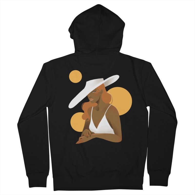 Fashion Women's French Terry Zip-Up Hoody by Kobrah's Artist Shop