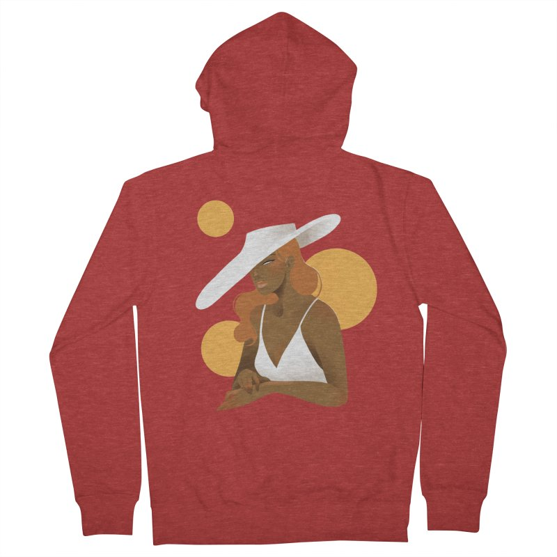 Fashion Men's French Terry Zip-Up Hoody by Kobrah's Artist Shop