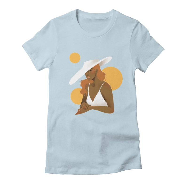 Fashion Women's Fitted T-Shirt by Kobrah's Artist Shop
