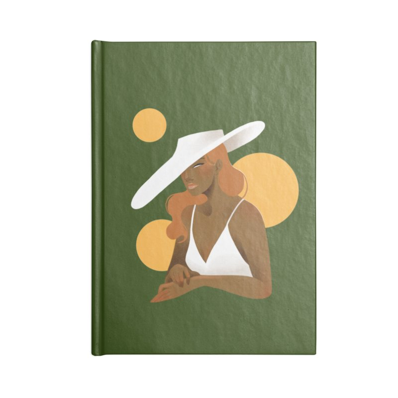 Fashion Accessories Lined Journal Notebook by Kobrah's Artist Shop