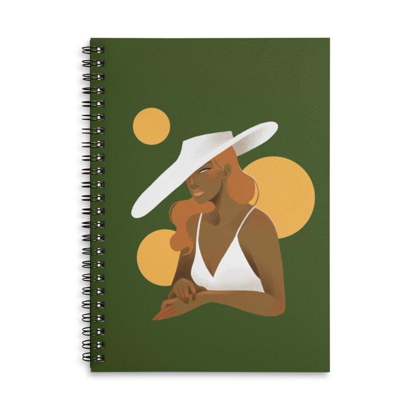 Fashion Accessories Lined Spiral Notebook by Kobrah's Artist Shop
