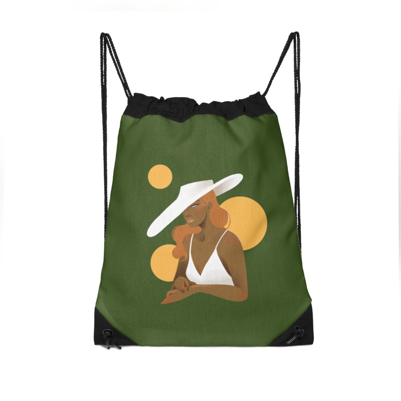 Fashion Accessories Drawstring Bag Bag by Kobrah's Artist Shop