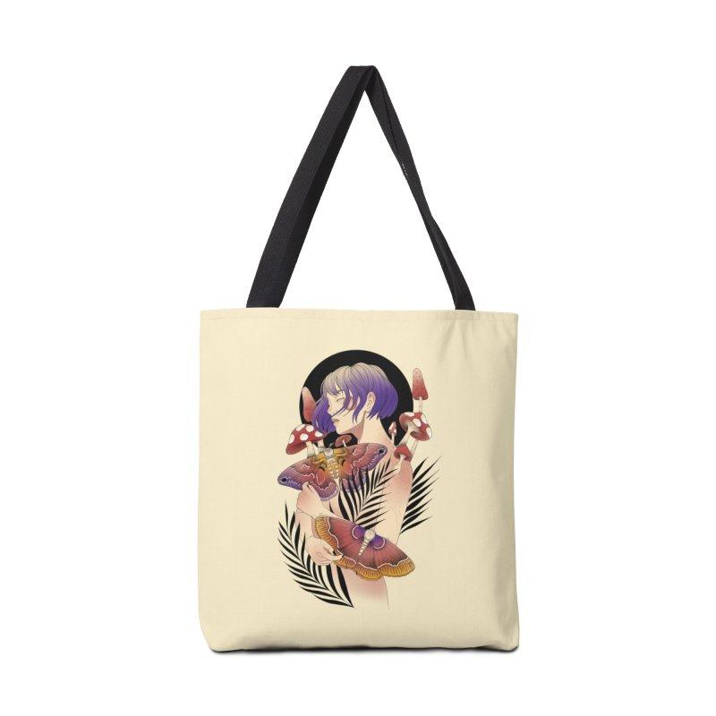 Moths and Mushrooms Accessories Tote Bag Bag by Kobrah's Artist Shop