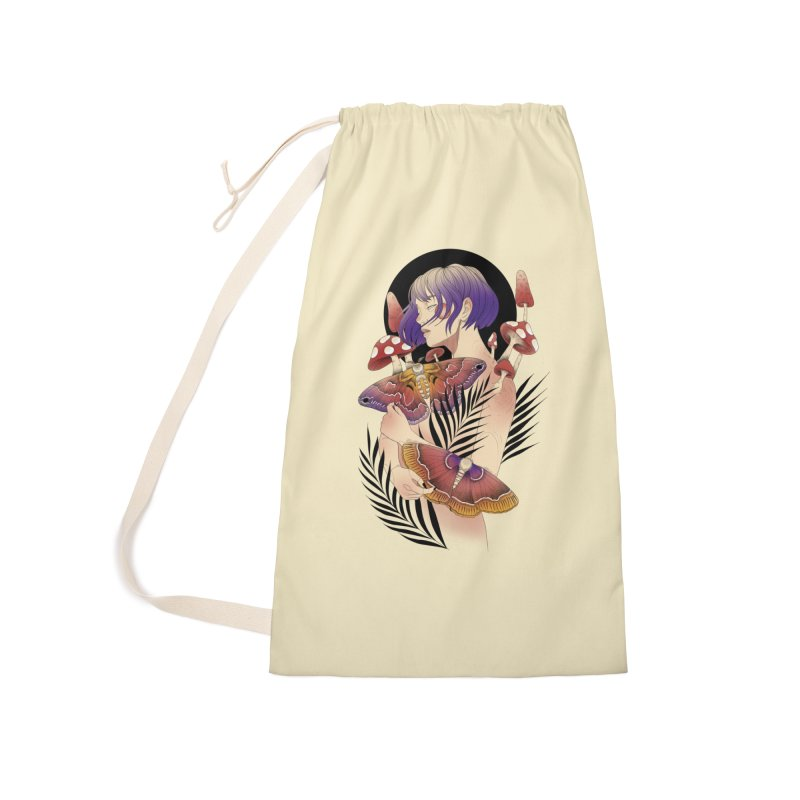 Moths and Mushrooms Accessories Laundry Bag Bag by Kobrah's Artist Shop