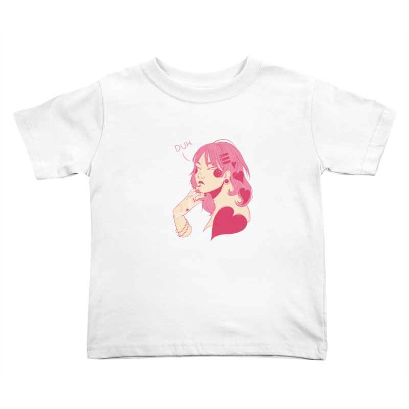 Duh Kids Toddler T-Shirt by Kobrah's Artist Shop