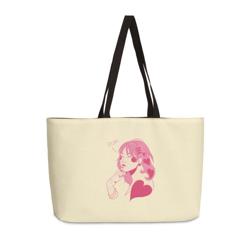 Duh Accessories Weekender Bag Bag by Kobrah's Artist Shop