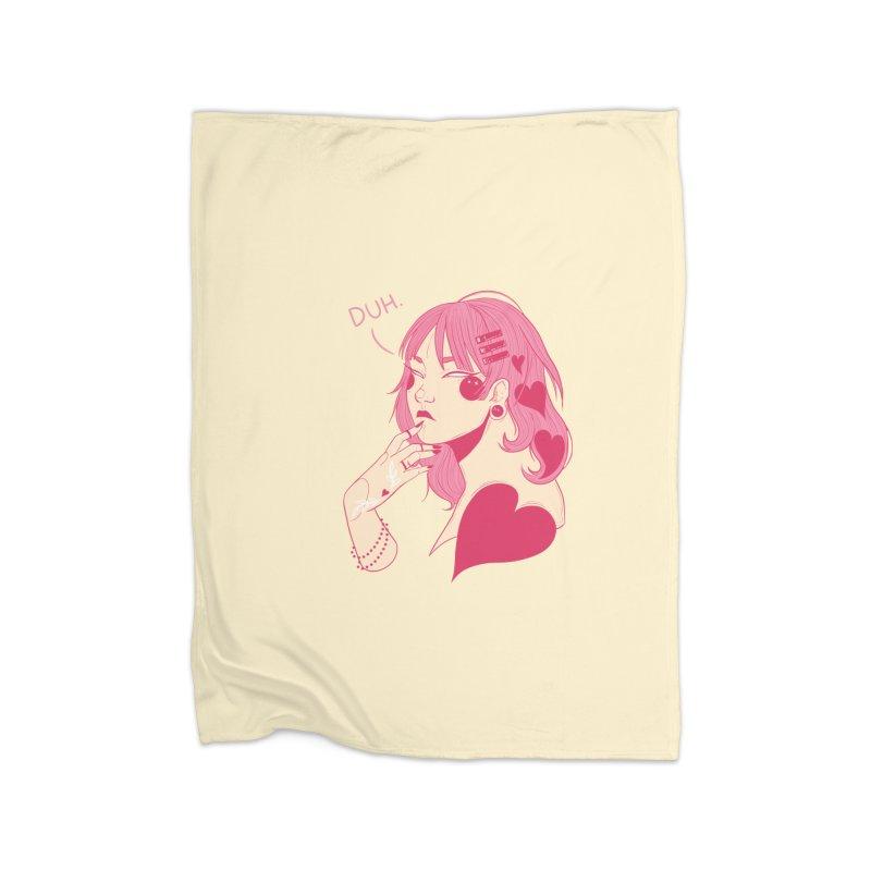 Duh Home Fleece Blanket Blanket by Kobrah's Artist Shop