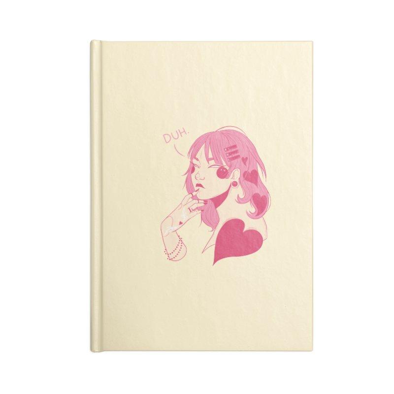 Duh Accessories Lined Journal Notebook by Kobrah's Artist Shop