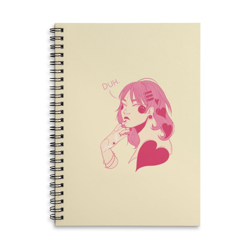 Duh Accessories Lined Spiral Notebook by Kobrah's Artist Shop