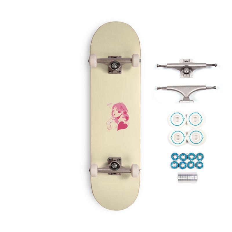 Duh Accessories Complete - Basic Skateboard by Kobrah's Artist Shop