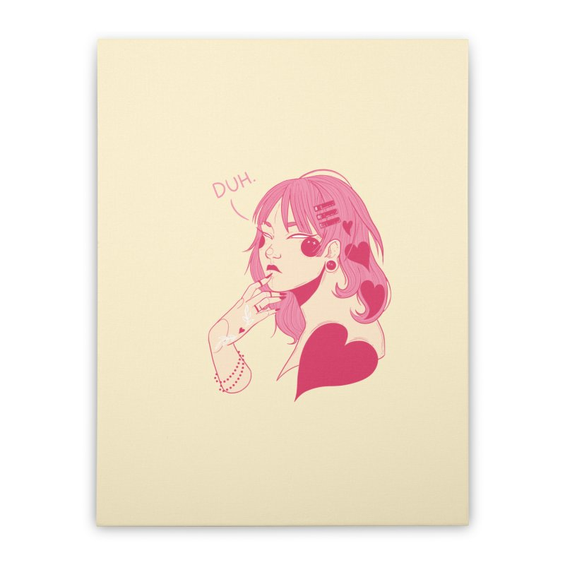 Duh Home Stretched Canvas by Kobrah's Artist Shop