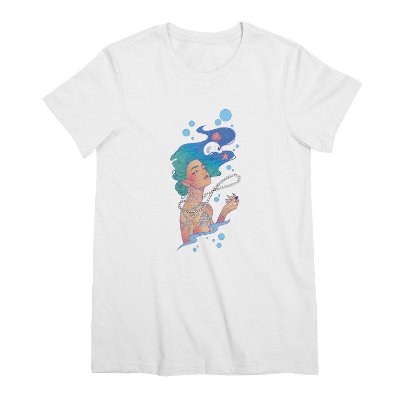 Siren Women's Premium T-Shirt by Kobrah's Artist Shop