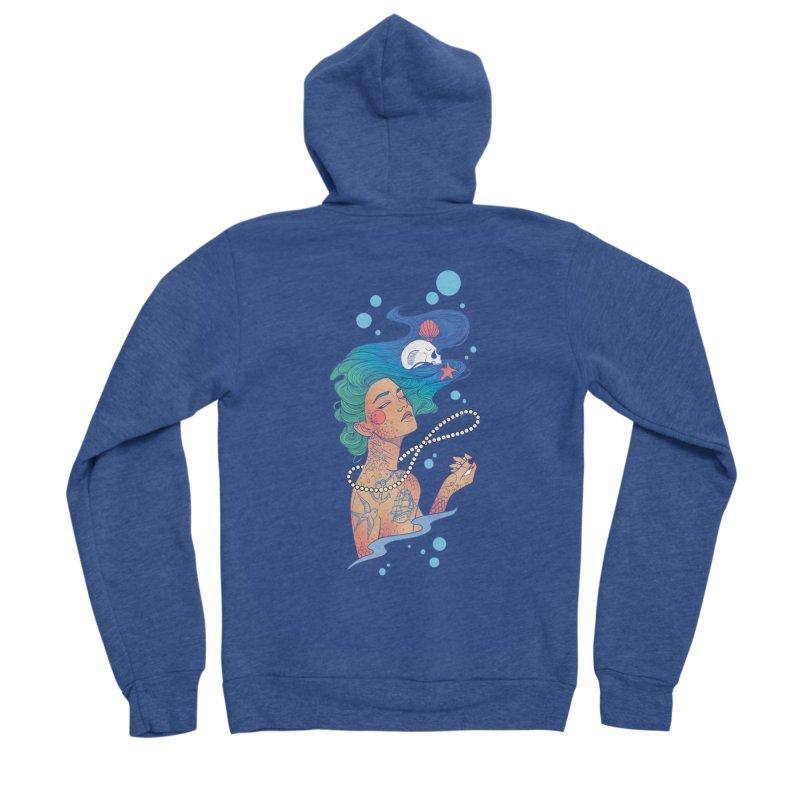 Siren Men's Sponge Fleece Zip-Up Hoody by Kobrah's Artist Shop