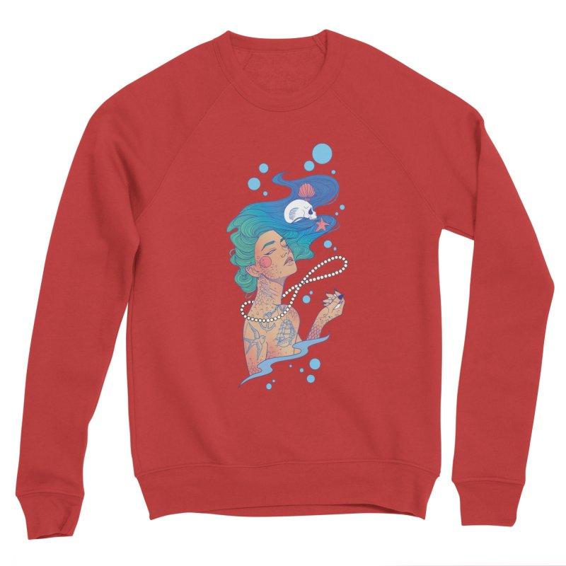 Siren Men's Sponge Fleece Sweatshirt by Kobrah's Artist Shop