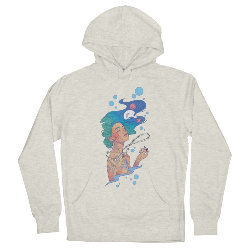 Siren Women's French Terry Pullover Hoody by Kobrah's Artist Shop