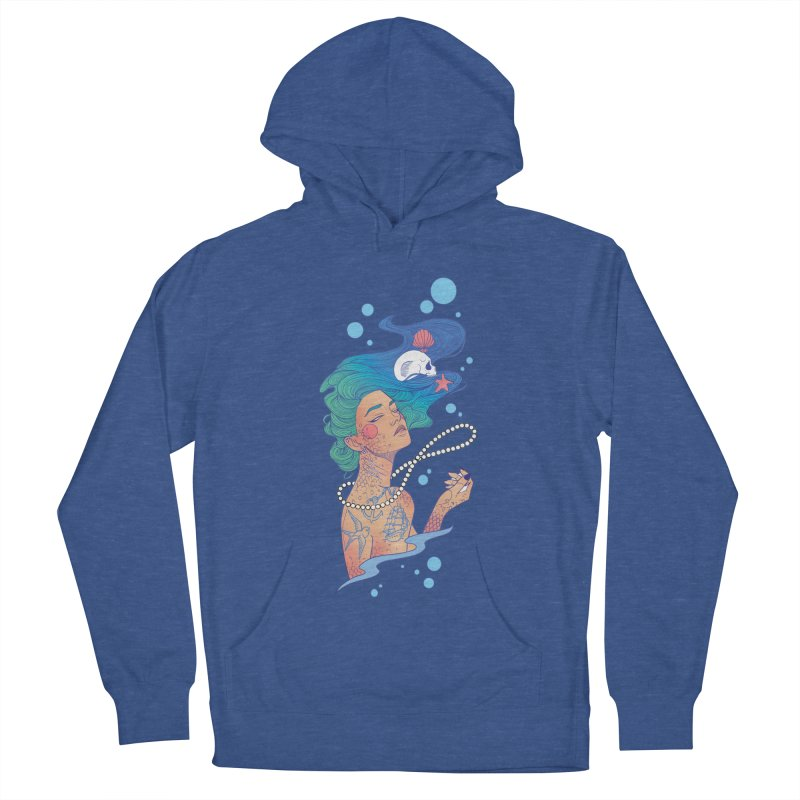 Siren Men's French Terry Pullover Hoody by Kobrah's Artist Shop