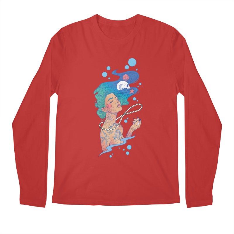 Siren Men's Regular Longsleeve T-Shirt by Kobrah's Artist Shop