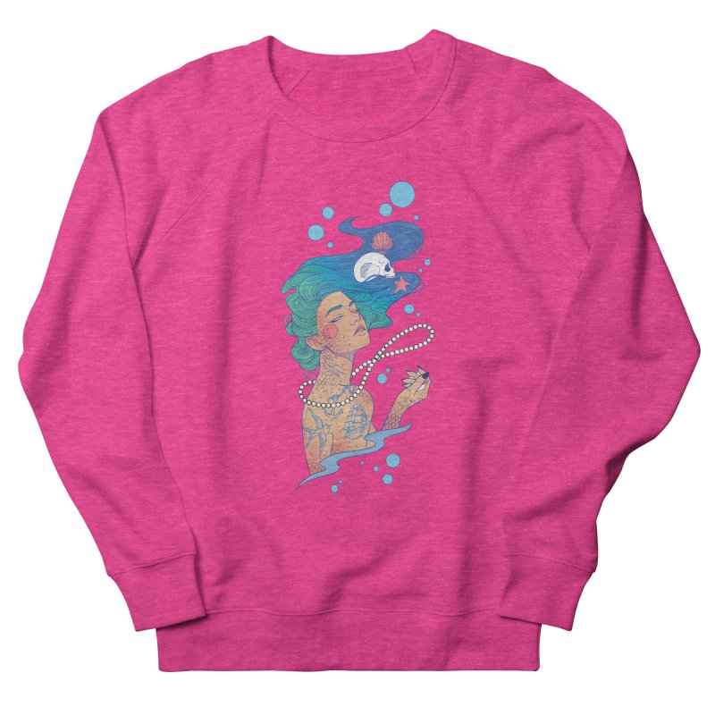 Siren Women's French Terry Sweatshirt by Kobrah's Artist Shop
