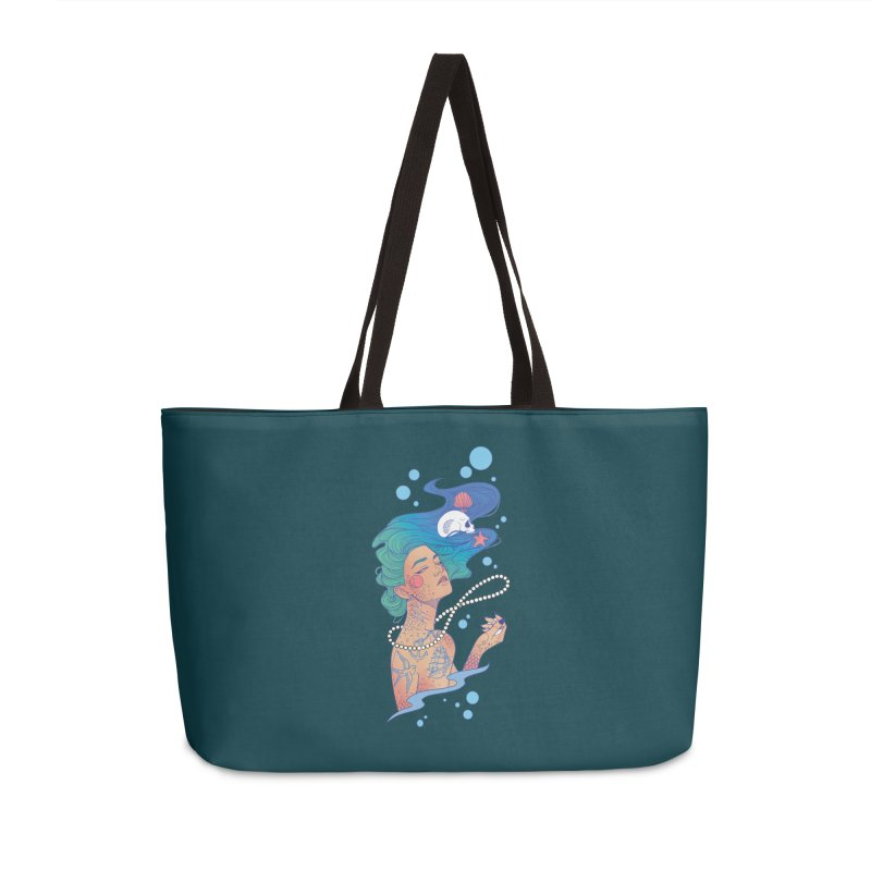 Siren Accessories Weekender Bag Bag by Kobrah's Artist Shop