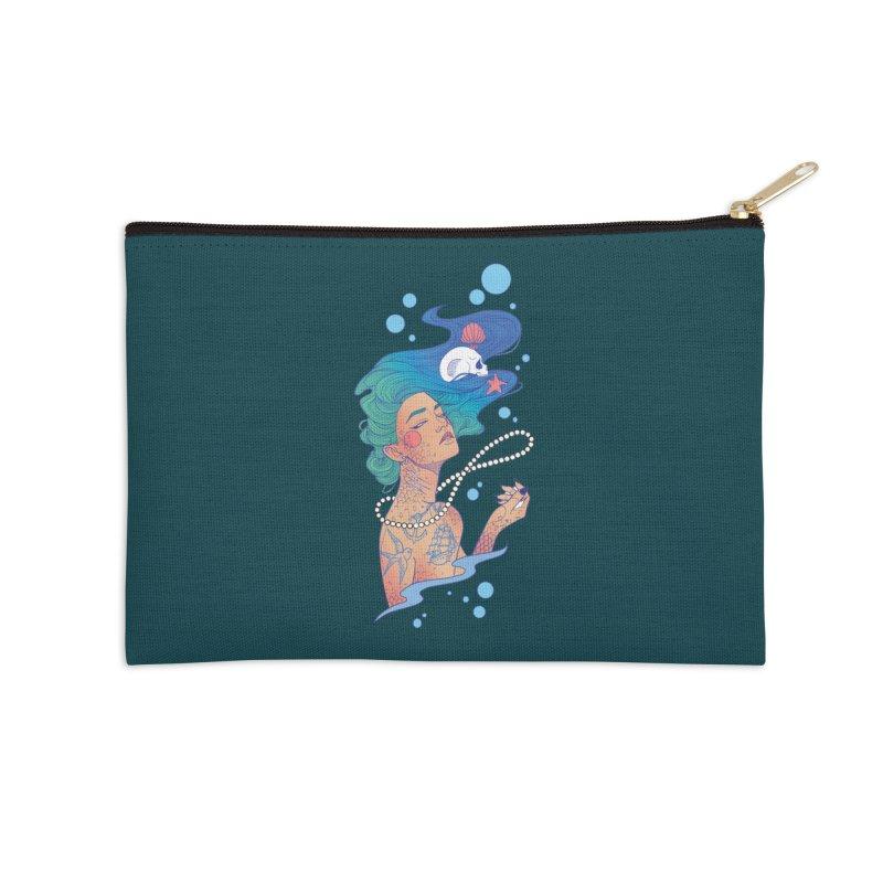 Siren Accessories Zip Pouch by Kobrah's Artist Shop