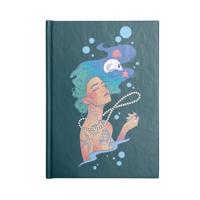 Siren Accessories Lined Journal Notebook by Kobrah's Artist Shop