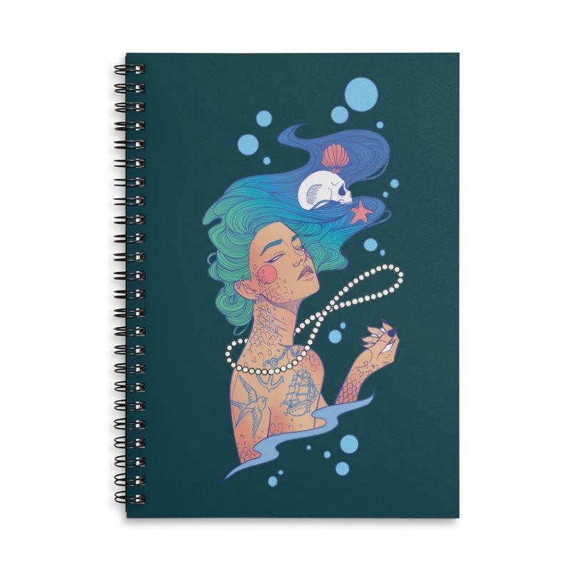 Siren Accessories Lined Spiral Notebook by Kobrah's Artist Shop