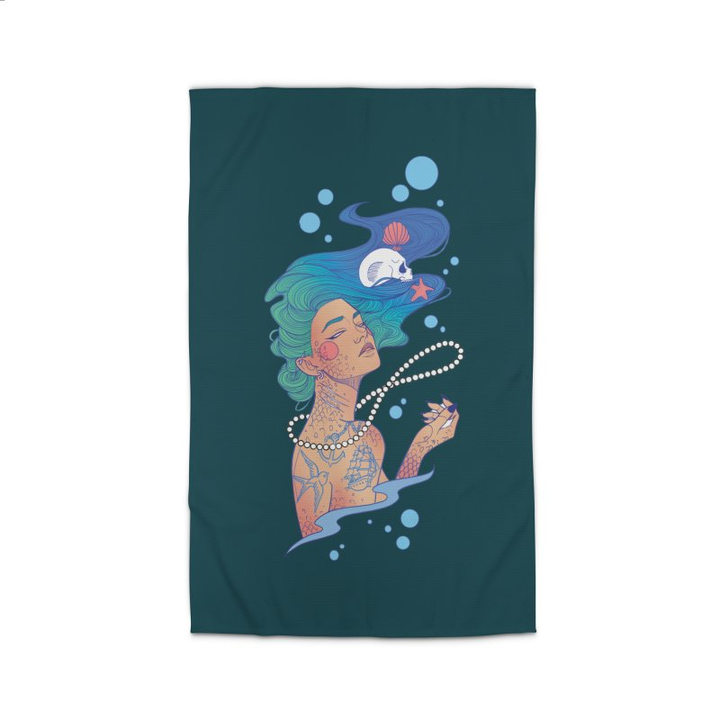 Siren Home Rug by Kobrah's Artist Shop