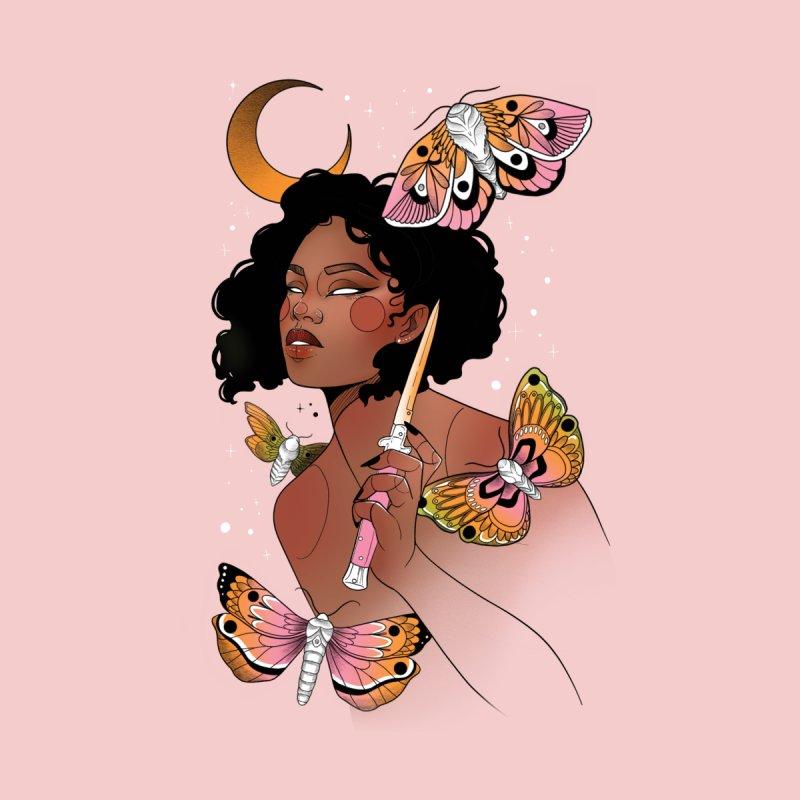Moths and Dagger Home Fine Art Print by Kobrah's Artist Shop